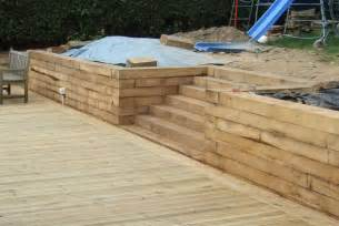 retaining walls railway sleepers and sleeper retaining