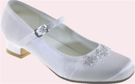 communion shoes white satin communion shoes with heel and