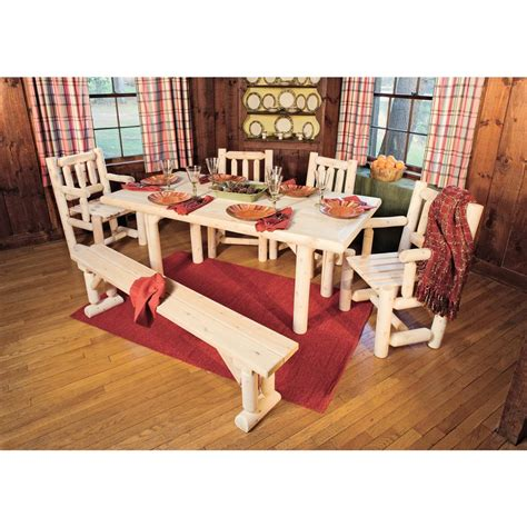 the log furniture company rustic natural cedar furniture company 174 cedar log solid