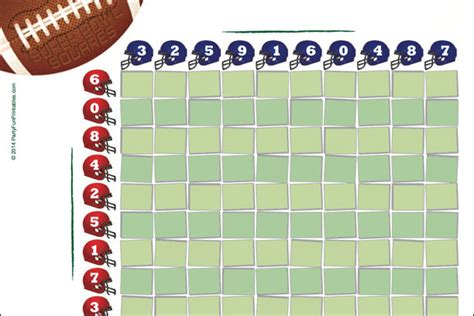 Best Numbers Office Football Pool Free Printable Bowl Squares 100 Grid For Your Nfl Pool