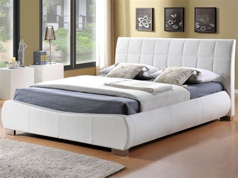 leather king bed frame colarado white faux leather king size bed 5ft new in box