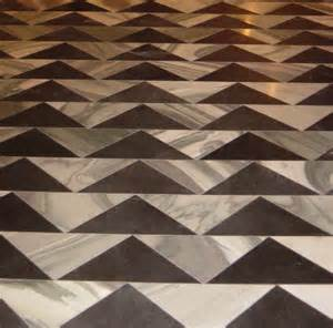 extraordinary sleek marble floor design with triangle pattern
