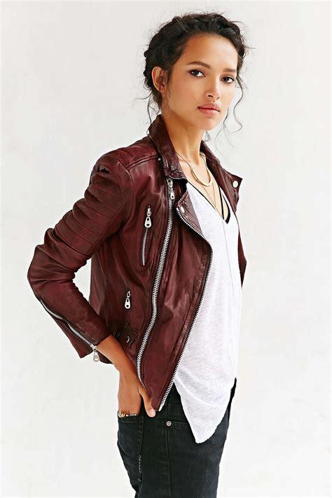 St Dress Jaket doma oxblood quilted burgundy leather jacket fall fashion clothing style
