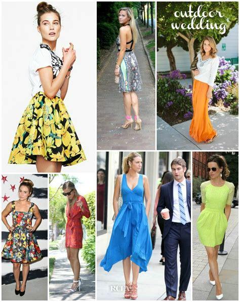 backyard wedding dresses guest inspiration shopping for an outdoor wedding summer