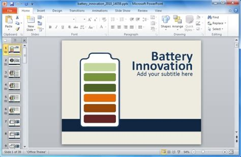 animated energy innovation powerpoint template with
