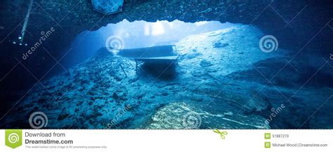 dive blue blue grotto caveran view stock photo image 51887270