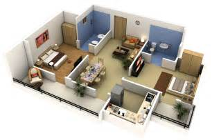 2 Bedroom 2 Bedroom Apartment House Plans
