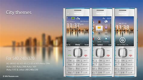 nokia x2 watch themes city theme nokia x2 00 x2 02 x2 05 c2 05 6303i asha 206