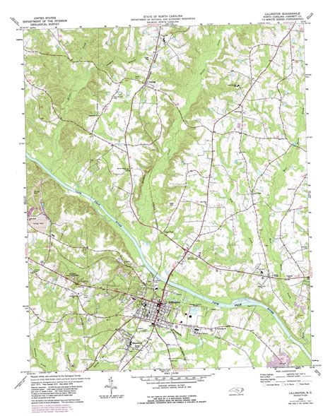 topographic map of carolina lillington topographic map nc usgs topo 35078d7