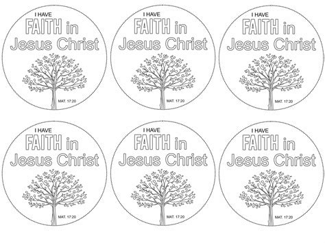 lds coloring pages faith in jesus christ lds primary printables i have faith in jesus christ