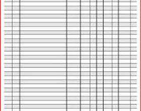 Printable full page check register