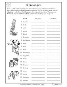 using a dictionary word origins worksheets activities