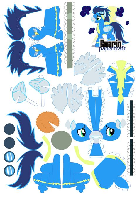 Rainbow Dash Papercraft - soarin papercraft by kna on deviantart