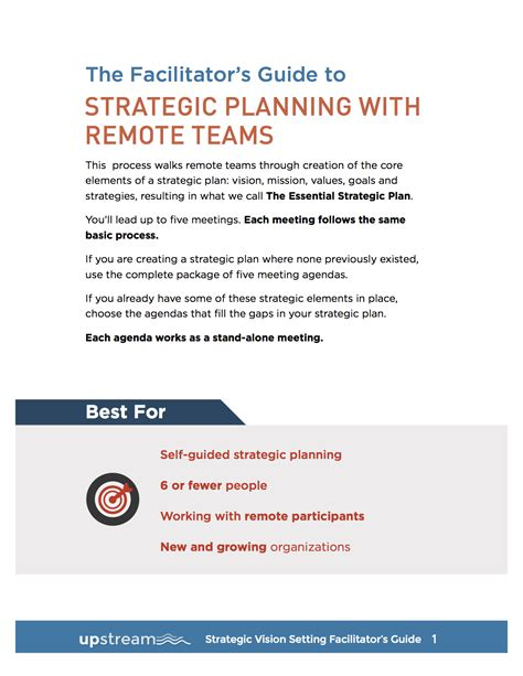 Facilitation Plan Template by Strategic Planning 1 Of 5 Vision Setting Meeting Lucid