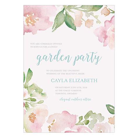 Wedding Invitation Garden Theme by Garden Invitation Confetti Co Uk