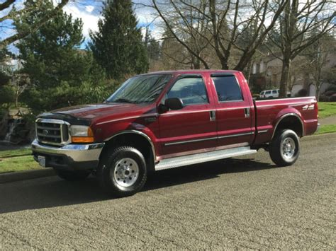 1999 ford f250 4x4 crew cab 4rd xlt 5 4l triton v8 only 34k actual miles 1 owner