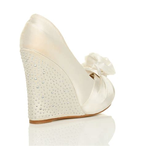 wedge wedding sandals womens wedding platform wedge bridal sandals
