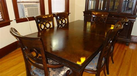 dining room china buffet dining room set table abd 6 chairs with matching hutch