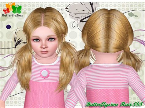 ponytailsims 4 child female hair068 hairstyles b fly provide personalized