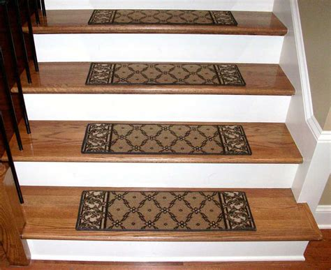 Rug Stair Treads by Washable Carpet Stair Treads Trellis Beige