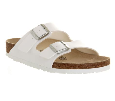berkinstock slippers birkenstock arizona two sandals in white for lyst