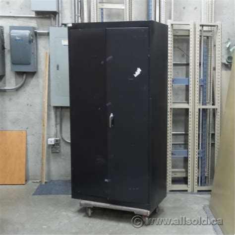 Black Metal Storage Cabinet by Black 2 Door Metal Storage Cabinet With Adjustable Shelves
