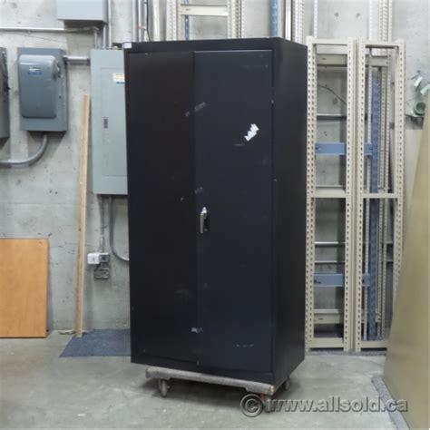 black metal storage cabinet black 2 door metal storage cabinet with adjustable shelves allsold ca buy sell used office