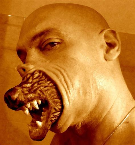 werewolf prosthetic tutorial werewolf transformation latex prosthetic mask by