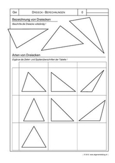mathematik geometrie arbeitsblatt arten von dreiecken