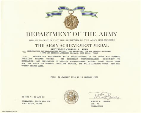 army certificate of achievement template army certificate of achievement template employee salary