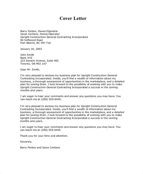 sle business proposal cover letter 7 documents in