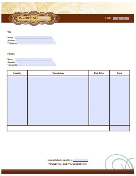 professional invoice template free invoice template