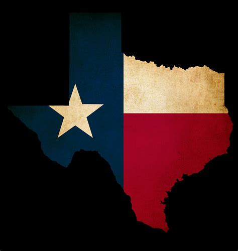 texas map flag state of texas outline cliparts co
