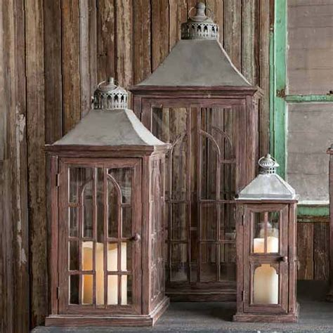 park hill collection palladium estate lanterns set 2