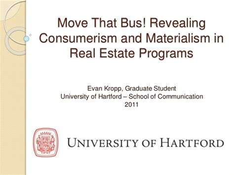 Real Estate Development Mba Programs by Revealing Consumerism And Materialism In Real Estate Programs