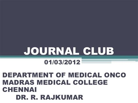 journal club powerpoint template metformin and cancer journal club