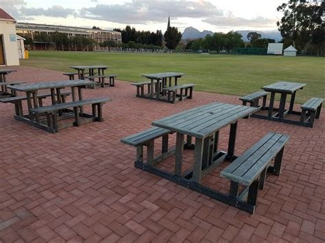 recycled plastic picnic benches park  school
