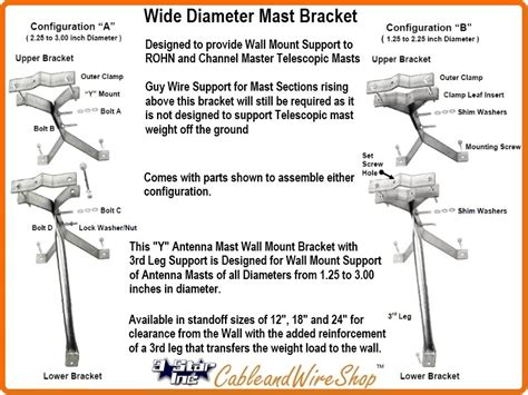 telescopic mast pole bracket wall mount  standoff ez