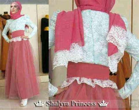 Baju Muslim Terusan Maxi Gamis Princess baju gamis kombinasi brokat shalyra princess model gaun