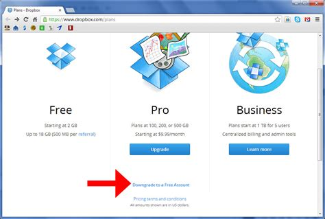 dropbox login page how to downgrade a dropbox account 3 steps with pictures