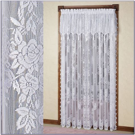 lace curtains with attached valance lace curtain panels with attached valance curtain home