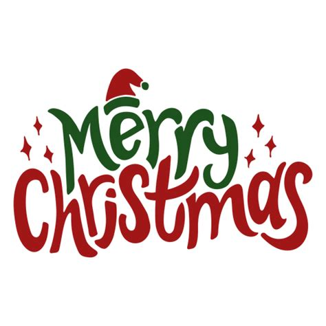 merry christmas greeting transparent png svg vector file