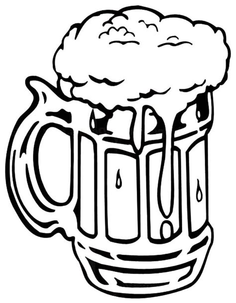 beer cartoon black and white free beer mug coloring pages