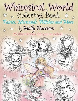 harry potter coloring book bam whimsical world coloring book fairies mermaids witches