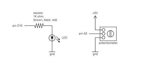led variable resistor circuit arduino led potentiometer matt wiechec s