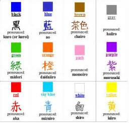 colors in japanese learning japanese