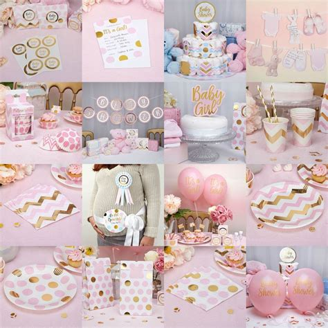 decoration for baby girl birthday decorating party and pattern pink baby shower girls party decorations