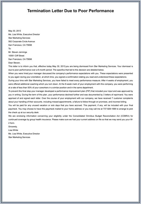 termination letter sle due to theft employee termination letter word format sle template