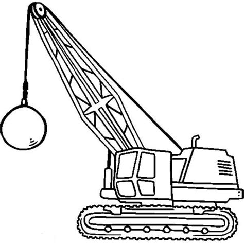 coloring page crane truck 10 images of construction machinery coloring pages