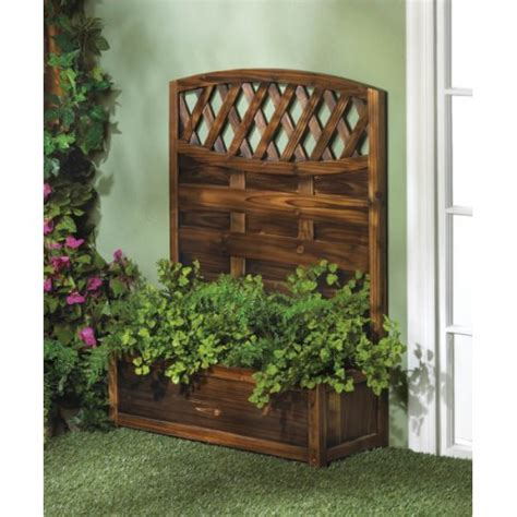 Trellis Planter Box by Planter Trellis Planter Box Garden Plant Stand 36 Quot Yard